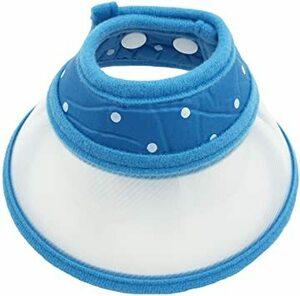 ブルー L Pet Cuisine(ペットキュイジーヌ) ペット用品 犬 猫小動物用エリザベスカラー ソフトタイプ 軽量 丈夫