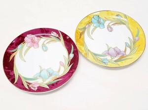 桂由美 デザートプレート 2客セット 花柄 KATSURA YUMI 小皿 食器 生活雑貨 FG-12