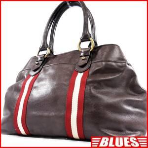 即決★BALLY★オールレザートートバッグ バリー メンズ 茶 本革 ハンドバッグ 本皮 かばん 通勤 トラベル 出張 カバン 鞄 レディース