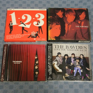 JA495●THE BAWDIES(ザ・ボゥディーズ)「1-2-3/RED ROCKET SHIP/LOVE YOU NEED YOU feat. AI」等 CD4点セット