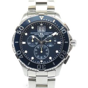 美品 タグホイヤー アクアレーサー クロノグラフ CAN1011.BA0821 クオーツ 腕時計 SS ブルー 青文字盤 0013 TAG HEUER メンズ