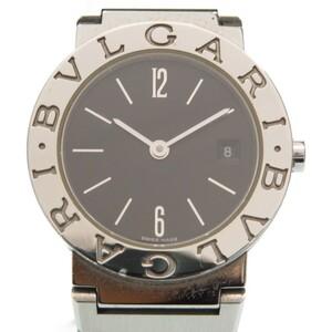 ブルガリ ブルガリブルガリ BB26SS クオーツ 腕時計 ステンレススチール ブラック 黒文字盤 0002 BVLGARI レディース