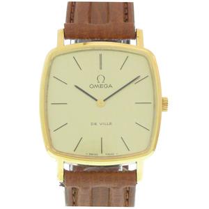 オメガ デビル 手巻き 腕時計 Cal.625 SS/レザー ゴールド アンティーク 0247 OMEGA メンズ