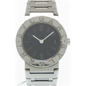 ブルガリ ブルガリブルガリ BB26SS クオーツ 腕時計 ステンレススチール ブラック 黒文字盤 0009 BVLGARI レディース