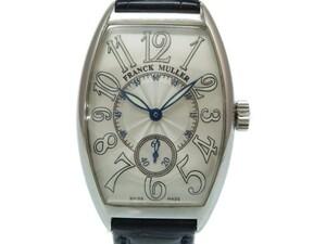 フランクミュラー トノーカーベックス 日本限定 2851 S6 J 自動巻き 腕時計 シルバー 0017 FRANCK MULLER メンズ