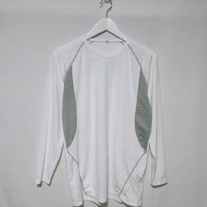 Tシャツ インナーシャツ トップス 無地 シンプル 長袖 LL 白 ホワイト メンズ /Q
