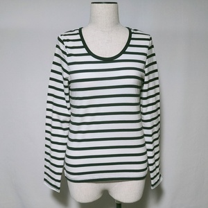 アズールベーシック AZUL BASIC Tシャツ ロンT カットソー ボーダー 柄 長袖 M レディース /V