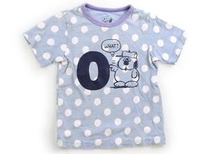 ファミリア familiar Tシャツ・カットソー 110 女の子 水色、ドット柄風 子供服 ベビー服 キッズ(799955)