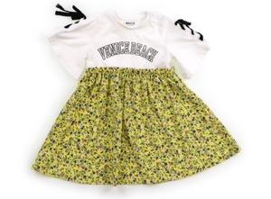 ブリーズ BREEZE ワンピース 80 女の子 オフホワイト・黄色系花柄 子供服 ベビー服 キッズ(801394)