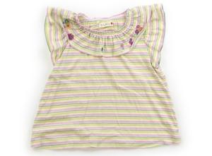 ニットプランナー(KP) Knit Planner(KP) Tシャツ・カットソー 100 女の子 ピンク、黄緑、ボーダー 子供服 ベビー服 キッズ(806946)