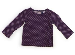 スワップミートマーケット SWAP MEET MARKET Tシャツ・カットソー 100 女の子 紫・オレンジドット柄 子供服 ベビー服 キッズ(833273)