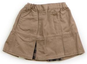 コムサイズム COMME CA ISM スカート 110 女の子 ベージュ・ブラック系チェック 子供服 ベビー服 キッズ(813424)