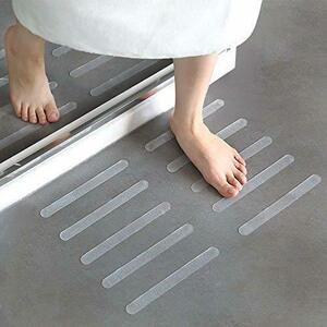 YANT 20枚入 浴槽 滑り止め バスマット 20*2cm 浴室マット バスルーム 滑り止めテープ キッチン 階段 プール
