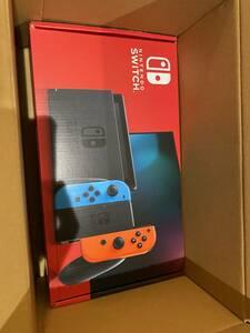 新品 送料無料 Nintendo Switch ニンテンドースイッチ ネオンブルー ネオンレッド 店舗印無し Joy-Con (L) 任天堂 本体 グレー Switch