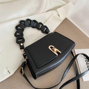 ショルダーバッグ ハンドバッグ 新品未使用E6 ショルダーバッグ ブラック イントレチャート 高品質