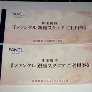 ファンケル 株主優待 ファンケル 銀座スクエア ご利用券 6000円分