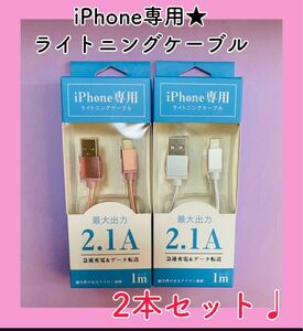 iPhone 充電ケーブル 充電器 ライトニングケーブル セット