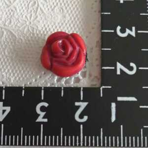 人形用 薔薇 バラ ヘアピン ヘアアクセサリー 赤 バービー ジェニー momoko リカちゃん タミーちゃん 1/6ドール
