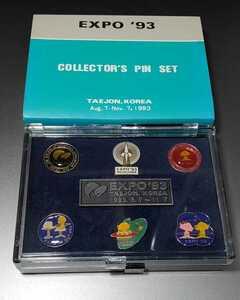 開封済 未使用 EXPO93 コレクターズピンセット ピンバッジ