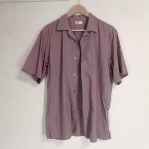 ユニクロU UNIQLO U オープンカラーシャツ メンズ M 半袖シャツ