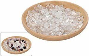新品 クリア 15cm 水晶 さざれ 浄化 クリスタル パワーストーン 天然石 浄化用さざれ石 浄化石 皿 セッATDY