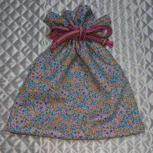 ハンドメイド 花柄巾着袋