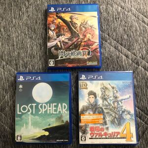 PS4ソフト3点セット 動作確認済み 良品 PS4ソフト PS4