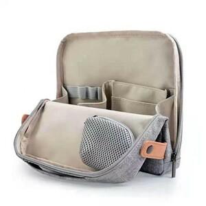新品未開封 ツールペンスタンド ガジェットポーチ バッグインバッグ 収納バッグ インナーバッグ トートバッグ グレー