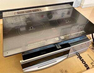 TOSHIBA IHクッキングヒーター ビルトイン 幅75cm 200V BHP-V732S 取扱説明書 簡単ご使用ガイド付き