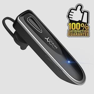 送料無料★Bluetooth ワイヤレス ヘッドセット V4.1 片耳 高音質 超大容量バッテリー 36時間通話可能(ブラック)