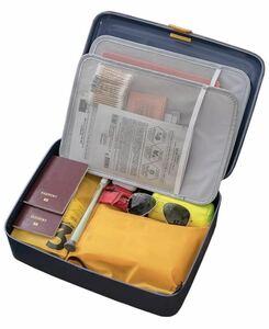 書類収納バッグ 収納可能 パスポートファイル 財産収納ケース 集金袋 貴重書類保管ケース 大容量 安心. (青い)