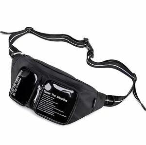 ウエストバッグボディバッグ ショルダーバッグ 斜め掛けバッグおしゃれ軽量防水大容量 男女兼用
