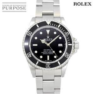 ロレックス ROLEX シードゥエラー 16600 K番 メンズ 腕時計 デイト ブラック 文字盤 オートマ 自動巻き ウォッチ Sea-Dweller 90134563