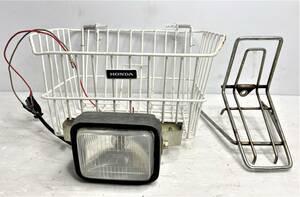 【カブ/CUB 6V】ホンダ フロントキャリア ライト付きカゴ/HONDA Front carrier Basket with light I2109-72-01