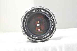 ★動作品★MINOLTA MC ROKKOR-PF 58mm F1.4#5385