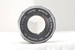 ★特上外観★MINOLTA MC ROKKOR-PF 55mm F1.7#5787