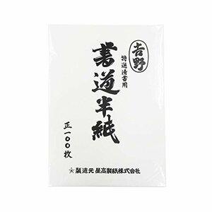 エヒメ紙工 特選清書用書道半紙 吉野 HAN-YO100P 100枚