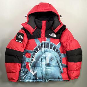 美品 19aw Supreme The North Face Statue of Liberty Baltoro Jacket Red M シュプリーム ノースフェイス バルトロ ダウン ジャケット