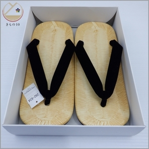 * kimono 10* 1 jpy for man vinyl made cow leather bottom sandals setta 24cm kimono small articles [ including in a package possible ] **