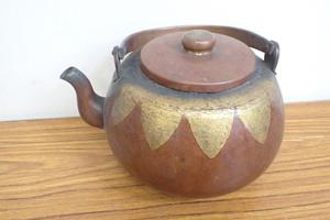 ★091618 茶道具 銅製 水注 やかん ★