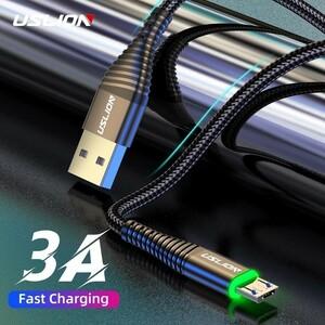 USLION-3A USB Type-Micro 高速充電ケーブル 0.5m