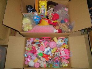 ジャンク 幼児&女の子 おもちゃ ぬいぐるみ(小物のみで3kg以上) 他 色々まとめて サイズ120 大量セット アンパンマン ディズニー キティ等