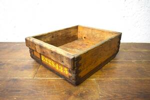 ビンテージ 木箱 BOX ボックス 収納 インテリア 店舗什器 ディスプレイ アンティーク インダストリアル ガレージ