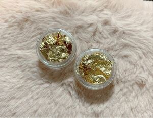 金箔2個★ネイルアート、レジン製作に★ゴールドホイル