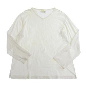 ヨウジヤマモト Yohji Yamamoto 長袖 ロングTシャツ カットソー メンズ 白 sizeM [Y01007]