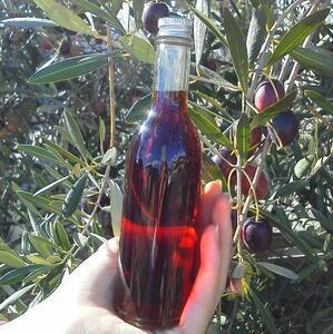世界唯一の栄養破壊なし本当のオリーブ:史上初:オリーブ酢 赤