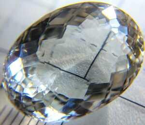 天然トパーズ 15.063ct ダイヤモンドトパーズ 透明 ルース 裸石 jewelry Gem ソーティング付き topaz パワーストーン