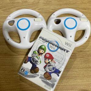 マリオカートWiiと Wiiハンドル2個セット A