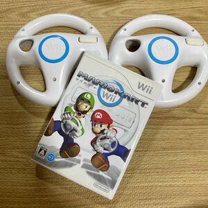 マリオカートWiiと Wiiハンドル2個セット B