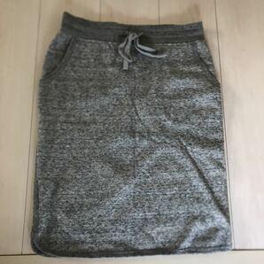 ユニクロ スウェットスカート UNIQLO サイズM 裏起毛 タイトスカート ひざ丈スカート シンプル グレー